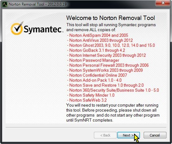 Norton Removal Tool, Summary