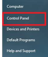 Windows 7 Start Menu, Control Panel
