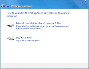 How do you want to install Windows Easy Transfer?