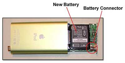 The logic board slides out for access to the battery