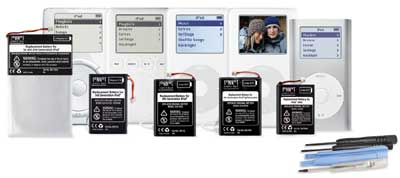 Sonnet Tech's line of iPod replacement batteries